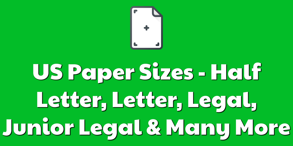 US Paper Sizes