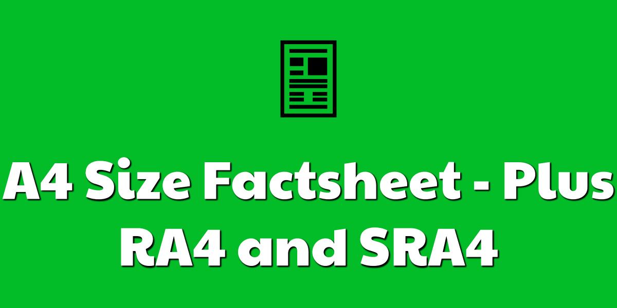 A4 Size Factsheet